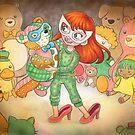Teddy Bear Masquerade by bayleejae