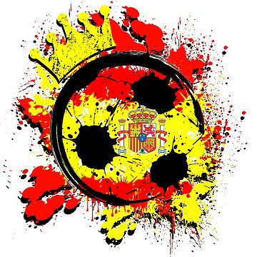 Spain Futbol Soccer Fan Distressed Splatter World Cup Champion by magiktees