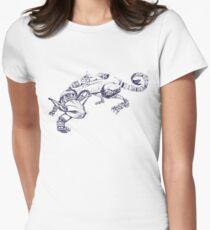 Cat Robot #1 Racer  Womens Fitted T-Shirt
