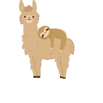 Sloth Sleeping on Llama - I'm not Llazy I'm Just Relaxed by Soulfire86