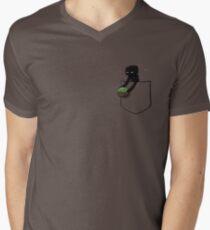 Little Pocket Enderman Men's V-Neck T-Shirt