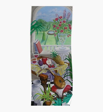 Still Life and Arch Window 2 Poster