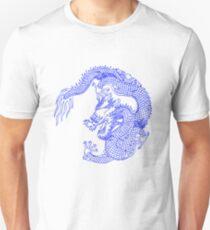 Asiatischer Art Chinese Dragon Tattoo Style Unisex T-Shirt