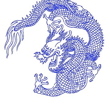 Asian Art Chinese Dragon Tattoo Style by Zehda