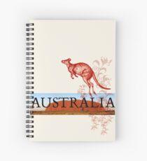 Australia Ayers Rock & Kangaroo Spiral Notebook