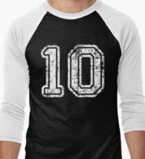 Sport Team Jersey 10 T Shirt Football Soccer Baseball Hockey Basketball Ten 10 010 Number Men's Baseball ¾ T-Shirt