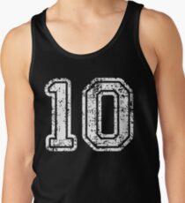 Sport Team Jersey 10 T Shirt Football Soccer Baseball Hockey Basketball Ten 10 010 Number Tank Top