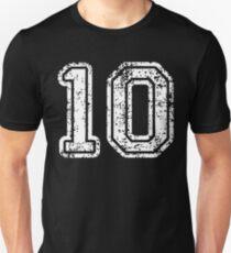 Sport Team Jersey 10 T Shirt Football Soccer Baseball Hockey Basketball Ten 10 010 Number Unisex T-Shirt
