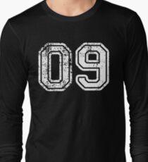Sport Team Jersey 00 T Shirt Football Soccer Baseball Hockey Basketball Nine 9 09 Number Long Sleeve T-Shirt