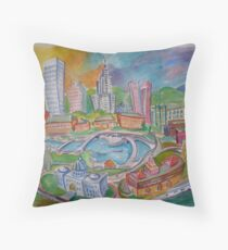 Providence, Rhode Island.... A Colorful City Throw Pillow