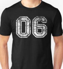 Sport Team Jersey 06 T Shirt Football Soccer Baseball Hockey Basketball Six 6 06 Number Unisex T-Shirt