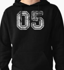 Sport Team Jersey 05 T Shirt Football Soccer Baseball Hockey Basketball Five 5 05 Number Pullover Hoodie
