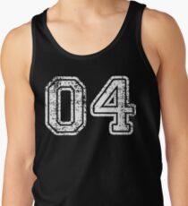 Sport Team Jersey 04 T Shirt Football Soccer Baseball Hockey Basketball Four 4 04 Number Tank Top