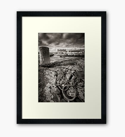 Reay Harbour, Caithness, Scotland Framed Print