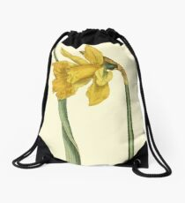 Daffodil Flower Botanical Drawstring Bag