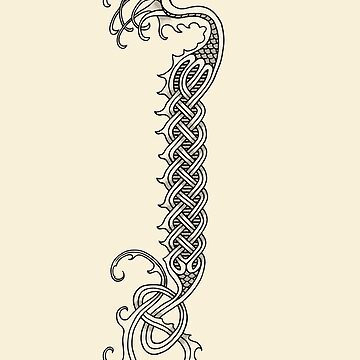 Celtic Serpent - Line Art by Dragon84