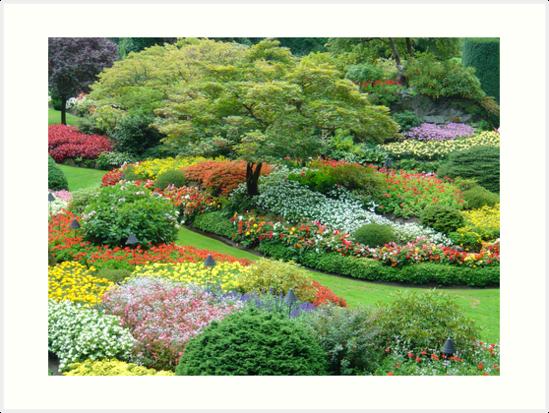 Sunken Garden, Butchart Gardens, Victoria, Vancouver Island, Canada ...