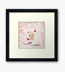 Take me to your heart Framed Print