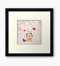 Cats Love Framed Print