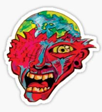 screaming at the world Sticker