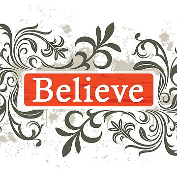 Believe - Sticker by nunigifts