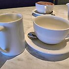 White Coffee and Tea Set by TeAnne