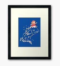 Little Fish Girl Framed Print