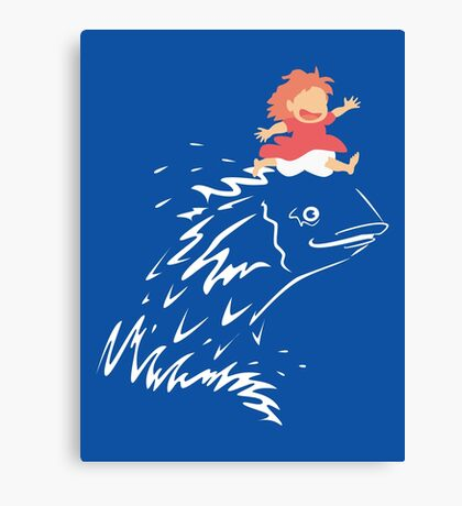 Little Fish Girl Canvas Print