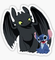 Stitch and Toothless Sticker