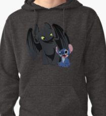 Stitch and Toothless Pullover Hoodie