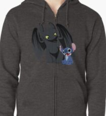 Stitch and Toothless Zipped Hoodie