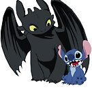 Stitch and Toothless by drawingdream