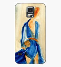 """Fashion and Victim Painting """"Blue and Beauty"""" Case/Skin for Samsung Galaxy"""