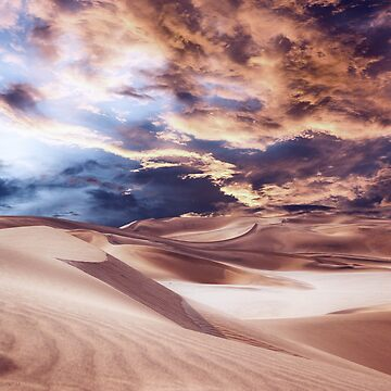 Golden Sand And Clouds by perkinsdesigns