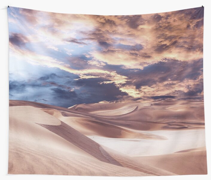 Golden Sand And Clouds by Phil Perkins