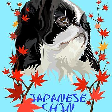Japanese Chin Dog - Maple by KingdomArt101