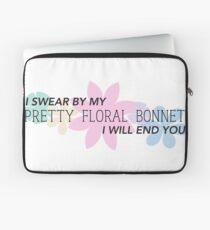 Pretty Floral Bonnet Laptop Sleeve