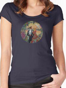 An Evening Stroll Women's Fitted Scoop T-Shirt