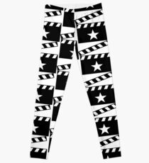 Movie Star Clapper Board Leggings