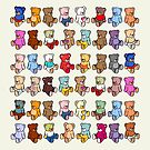 Cute Colourful Teddies by iconymous