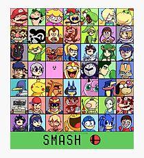 Super Smash Bros. 4 Roster Photographic Print