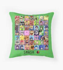 Super Smash Bros. 4 Roster Throw Pillow