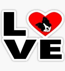 Love, Border Collie Sticker