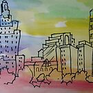 PROVIDENCE SKYLINE by nancy salamouny