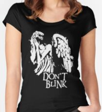 Doctor Who Don't Blink Women's Fitted Scoop T-Shirt