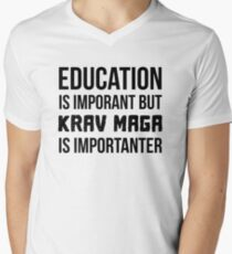 Krav Maga Is Importanter Men's V-Neck T-Shirt
