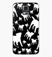 Border Terrier Gifts for Dog Lovers Black & White Silhouette Case/Skin for Samsung Galaxy