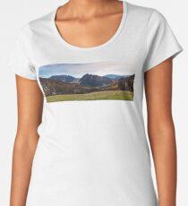 beautiful countryside panorama in springtime Premium Scoop T-Shirt