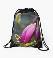 blossom of magnolia flowers Drawstring Bag