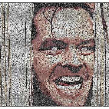 Text Portrait of Jack Torrance with Full Script of Shining by luigitarini